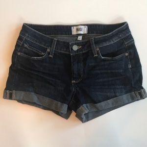 Paige Jimmy Jimmy Denim Shorts Size 24